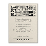 Reasons to Celebrate - Party Invitation - Ecru